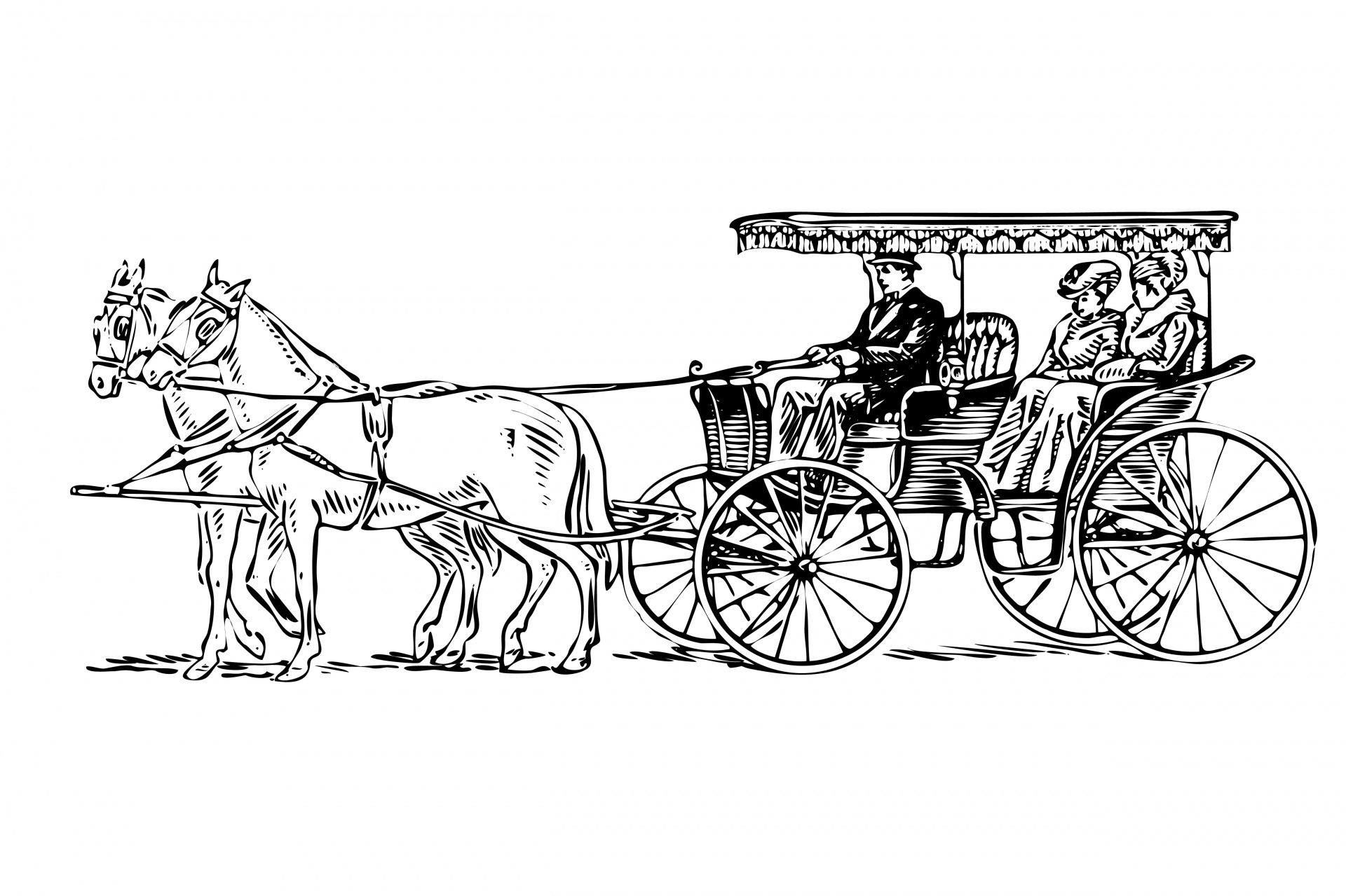 Horse drawn free stock. Carriage clipart carrage