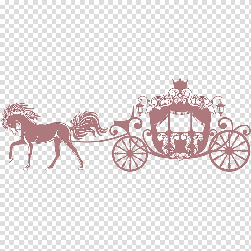Horse princess s silhouette. Carriage clipart carrage