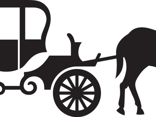 Carriage clipart carrage. Horse drawn free on