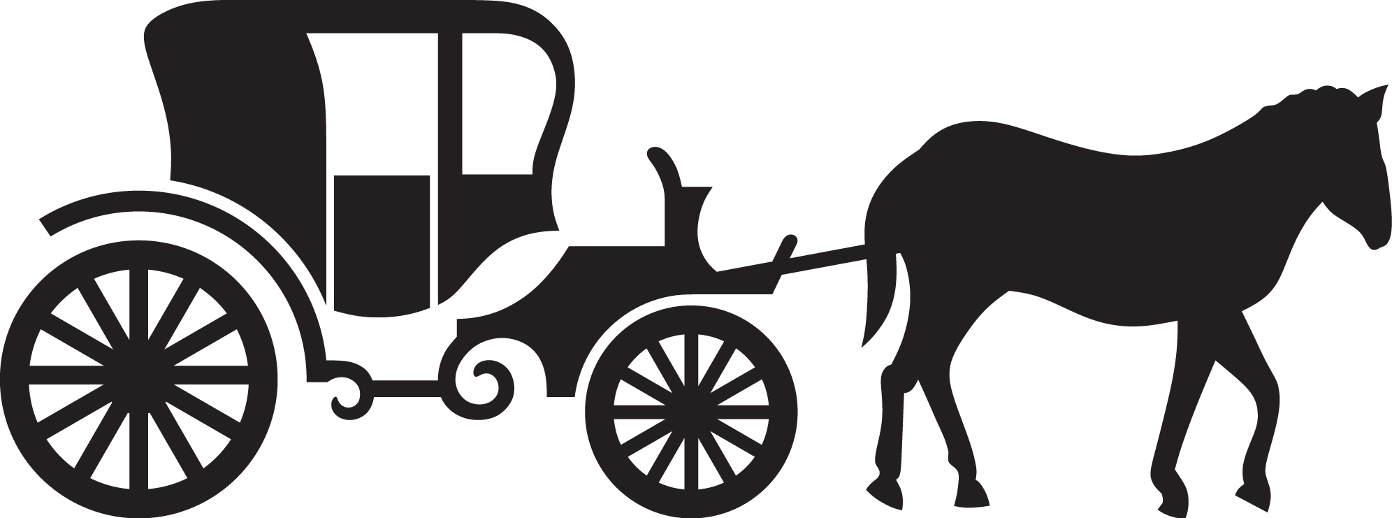 Carriage clipart carriage ride. Horse drawn pencil and