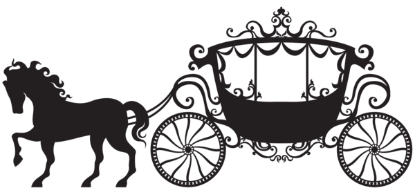 Silhouette png clip art. Carriage clipart carriage ride
