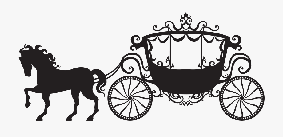 Carriage clipart chariot. Cinderella silhouette png