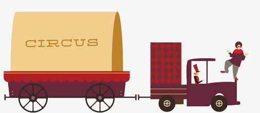 Truck cartoon png image. Carriage clipart circus