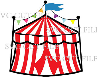 Tent svg etsy awesome. Carriage clipart circus