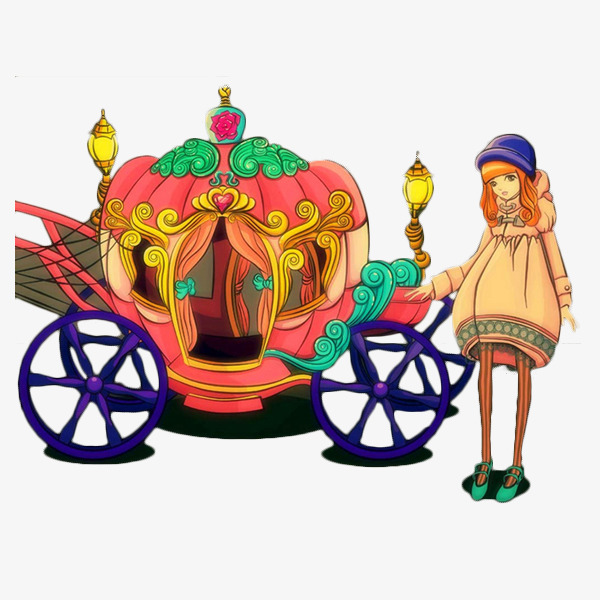 Cartoon pumpkin the cinderella. Carriage clipart circus