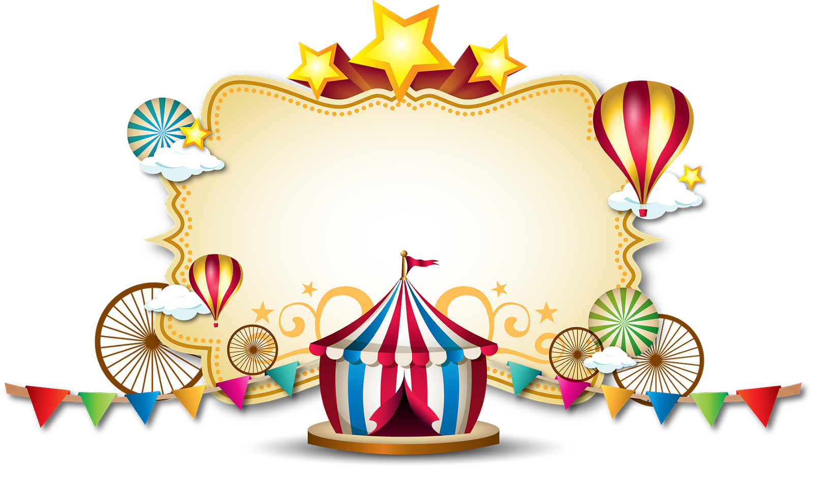 Circus clipart label. Pin by edith godoy