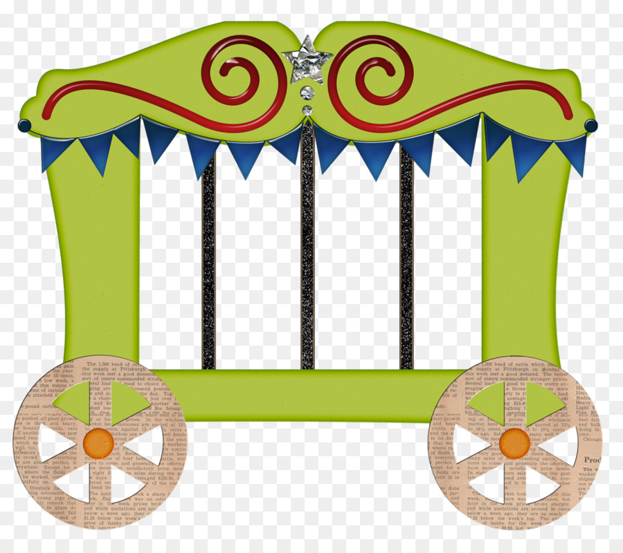 Petit lapin blanc a. Carriage clipart circus