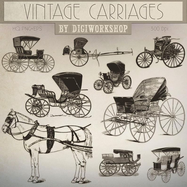 Carriage clipart clip art. Vintage carriages contains victorian