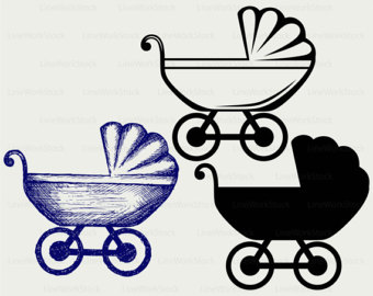 Carriage clipart clip art. Etsy baby svgbaby clipartbaby