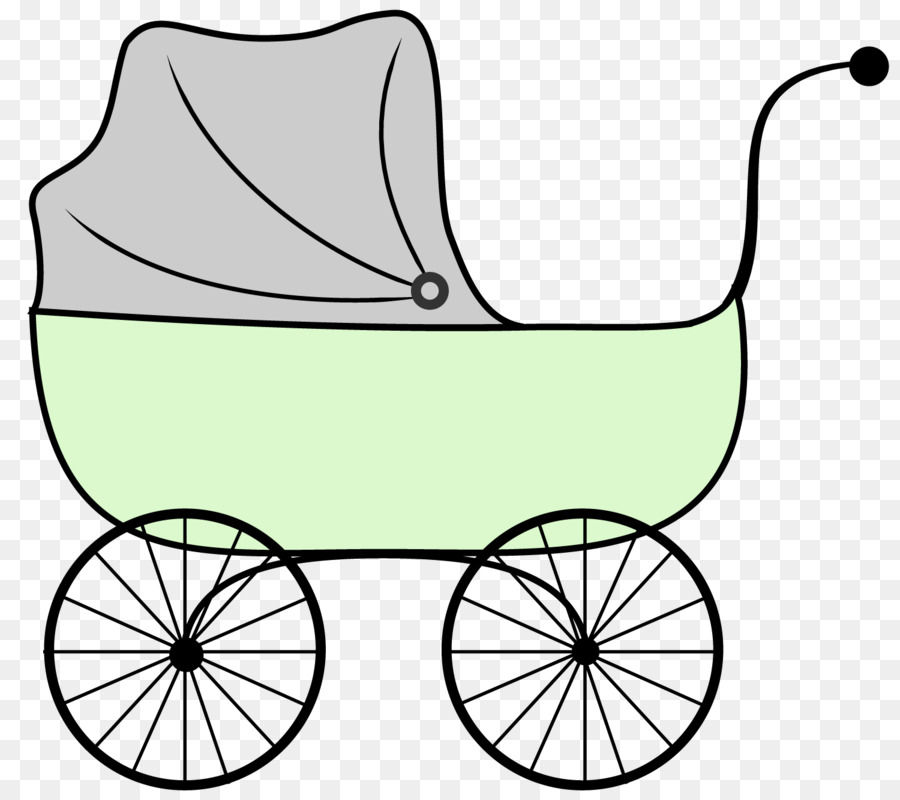 Doll stroller baby transport. Carriage clipart clip art