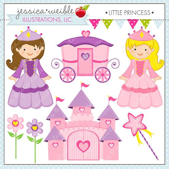 Little princess digital for. Carriage clipart cute