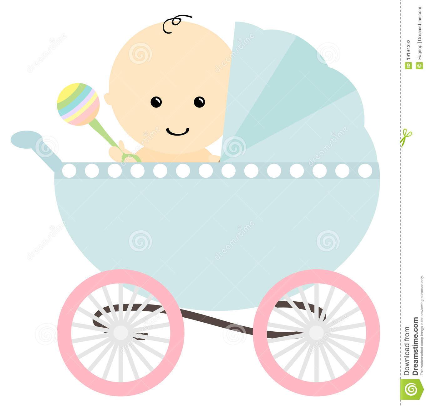 Cartoon baby incep imagine. Carriage clipart cute