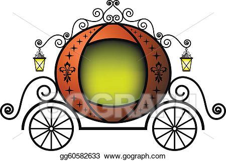 Carriage clipart cute. Eps vector fairytale stock