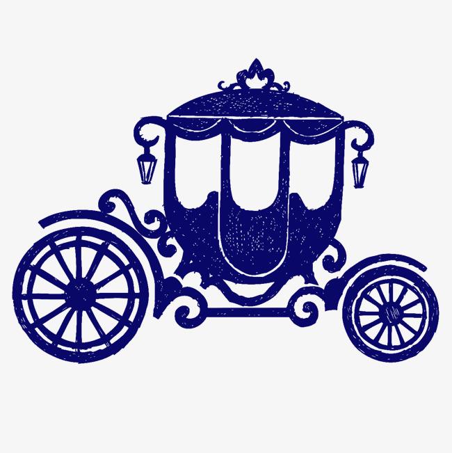 Cartoon blue pumpkin the. Carriage clipart fairytale