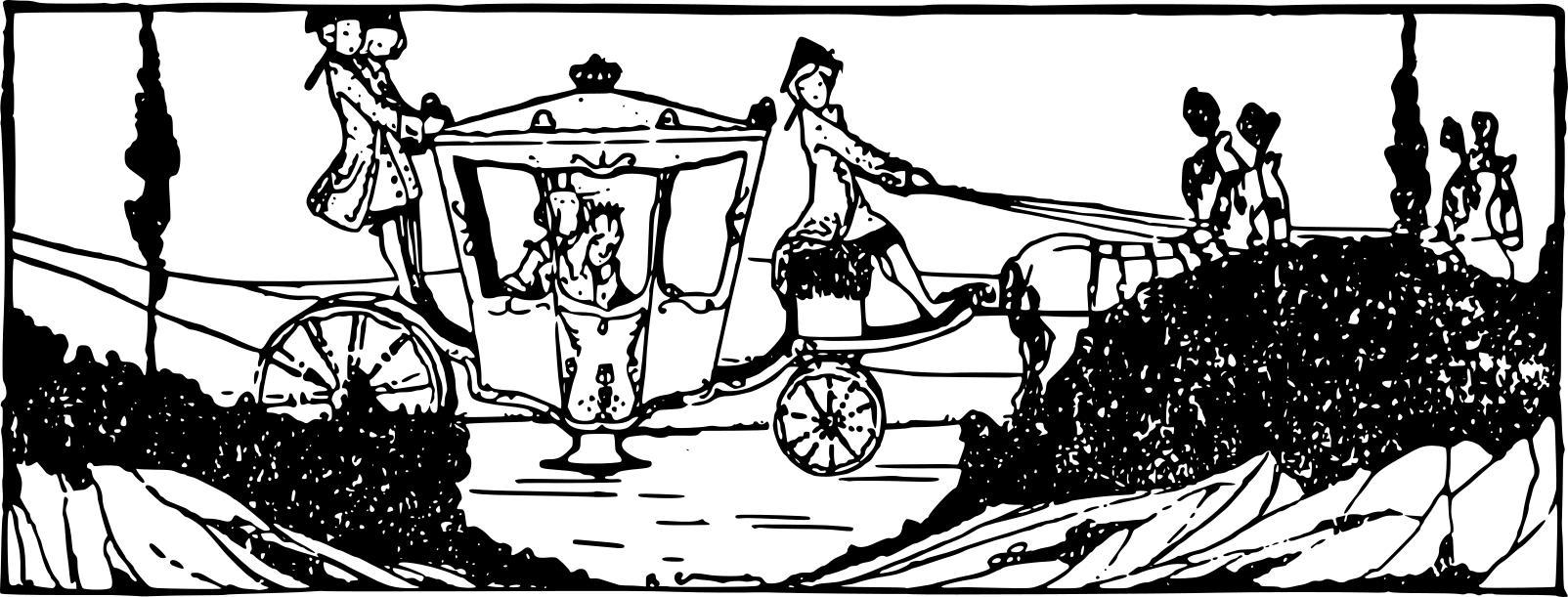 Carriage clipart fairytale. Fancy fairy tale design