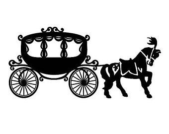Carriage clipart fairytale. Svg horse etsy carousel
