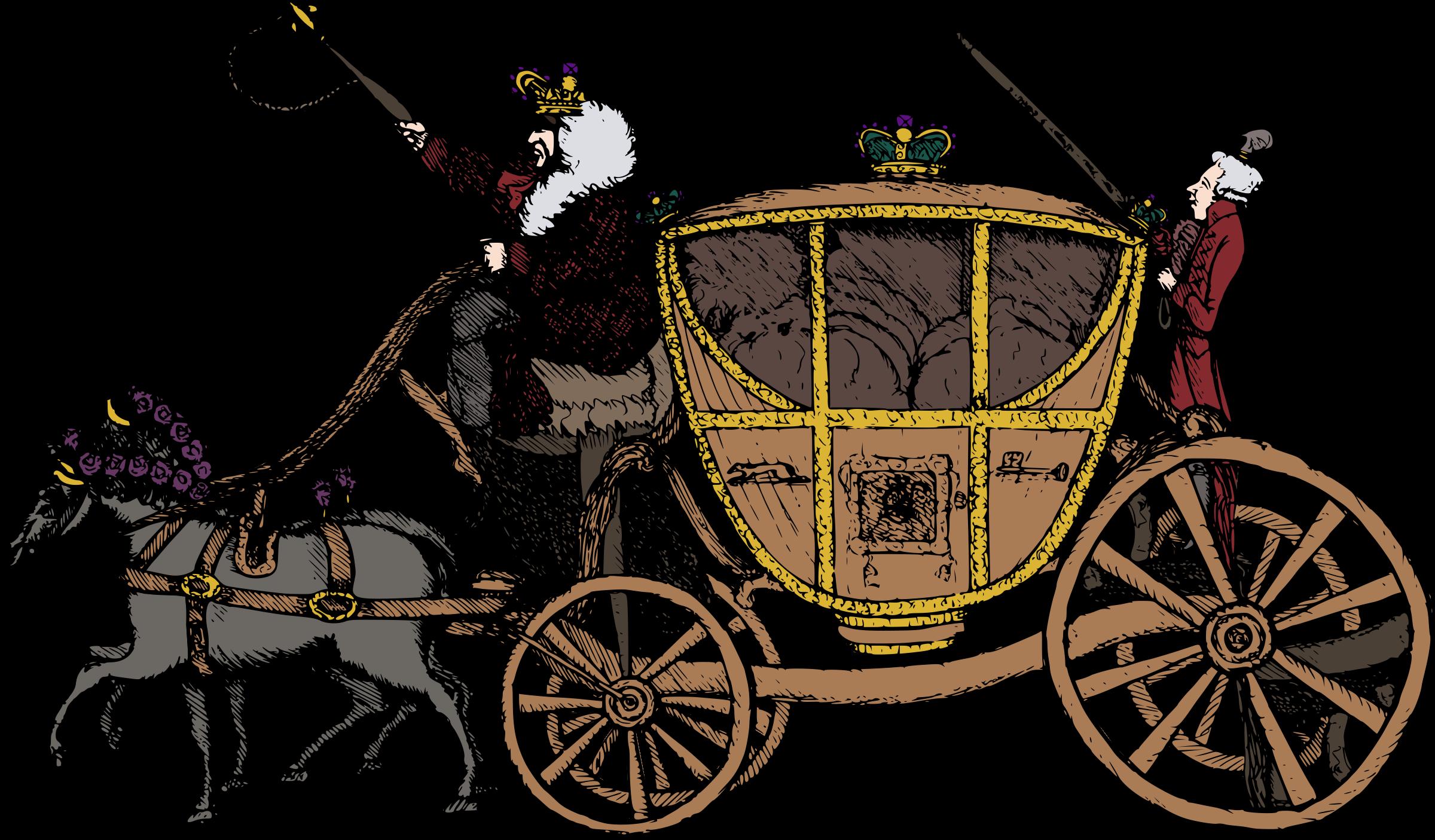 Fairytale clipart queen. Fairy tale carriage big