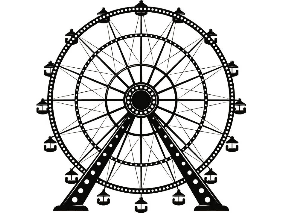 Wheel clipart sketch. Ferris drawing free download