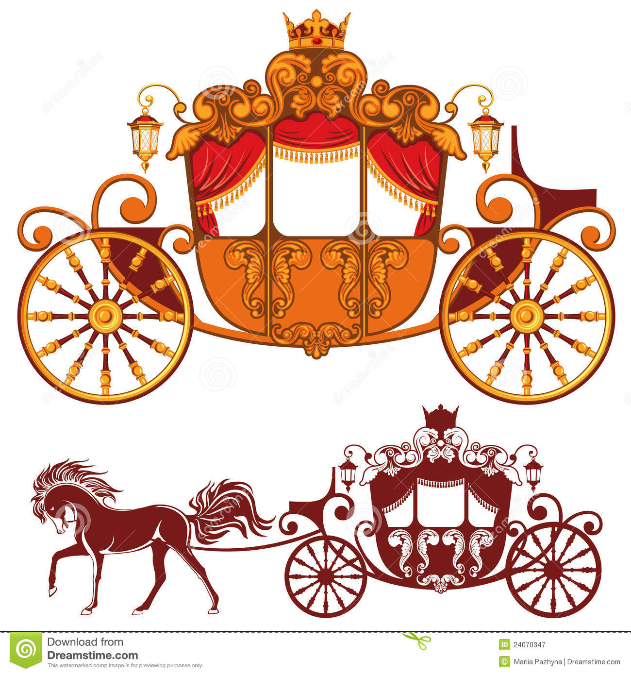 Royal . Carriage clipart frame