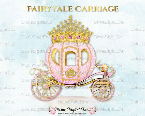 Carriage clipart frame. Pink princess cinderella coach