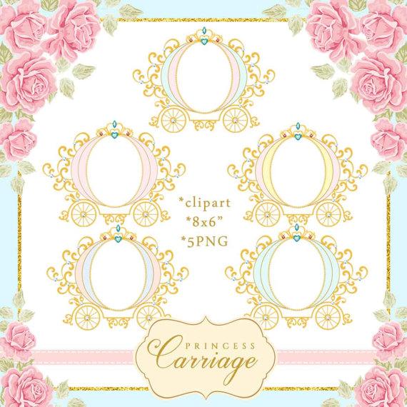 Princess vintage . Carriage clipart frame