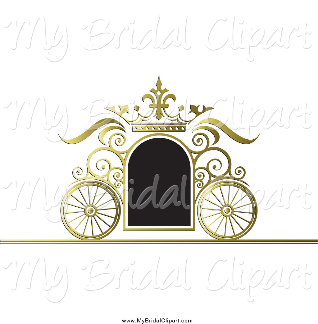 Carriage clipart frame. Bridal of a black