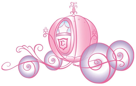 Disney princess giant wall. Carriage clipart glitter