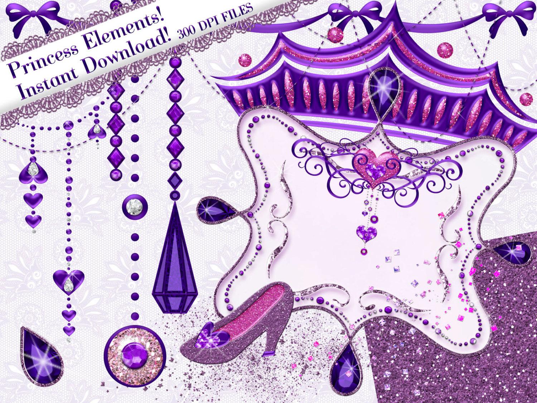 Carriage clipart glitter. Princess purple clip art