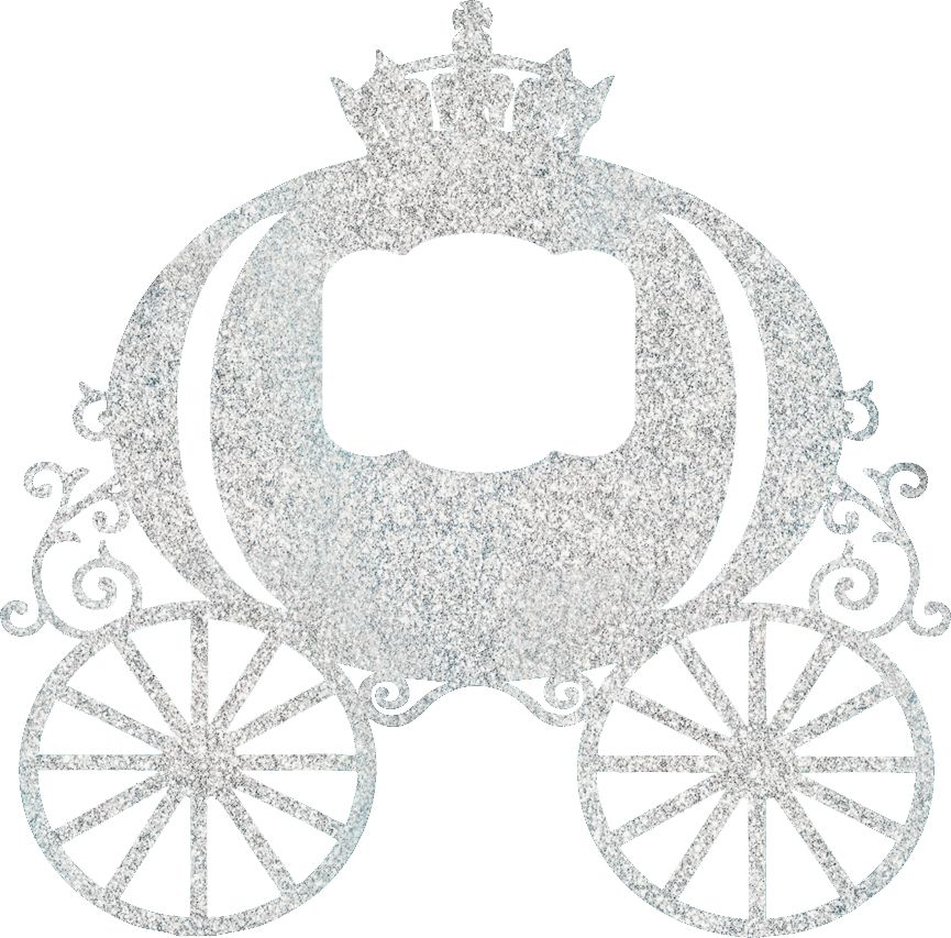 collection of princess. Carriage clipart glitter