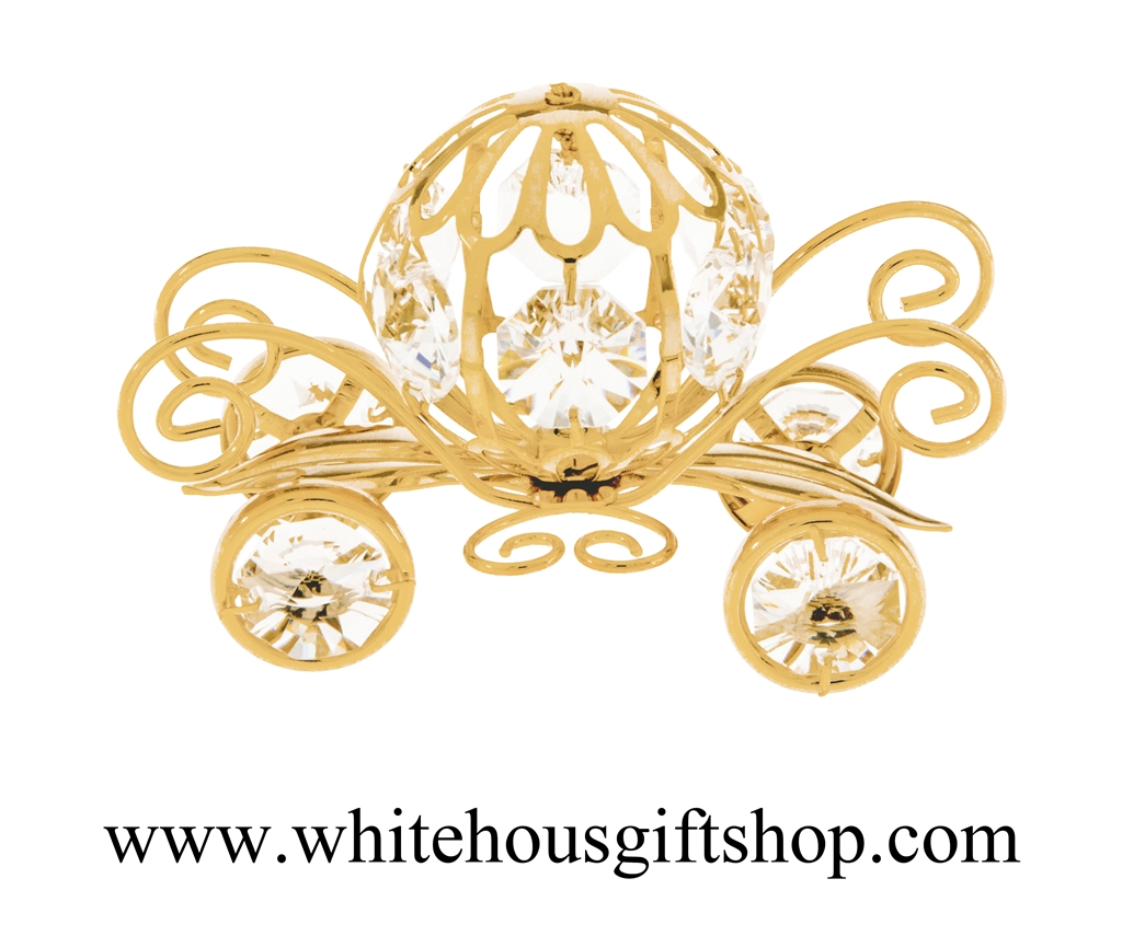 Ornament pumpkin or desk. Carriage clipart gold carriage