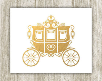 collection of princess. Carriage clipart gold carriage