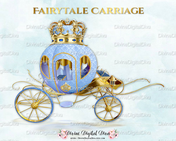Carriage clipart gold carriage. Little prince fairytale coach