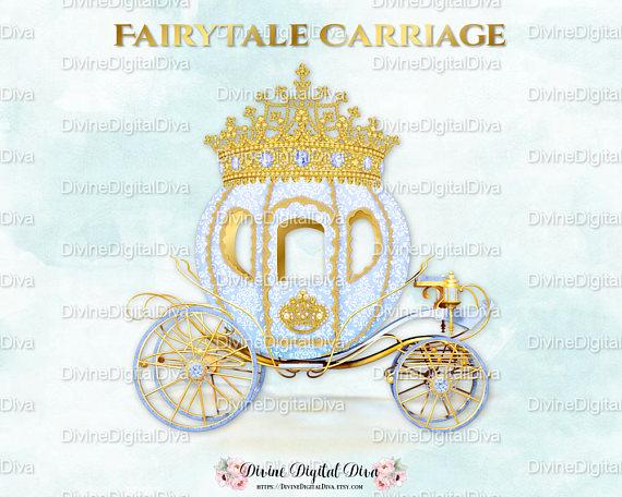 Carriage clipart gold carriage. Blue prince cinderella coach