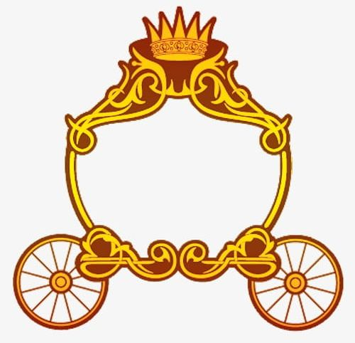 Carriage clipart gold carriage. Download for free png
