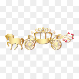 Carriage clipart gold carriage. Png images vectors and