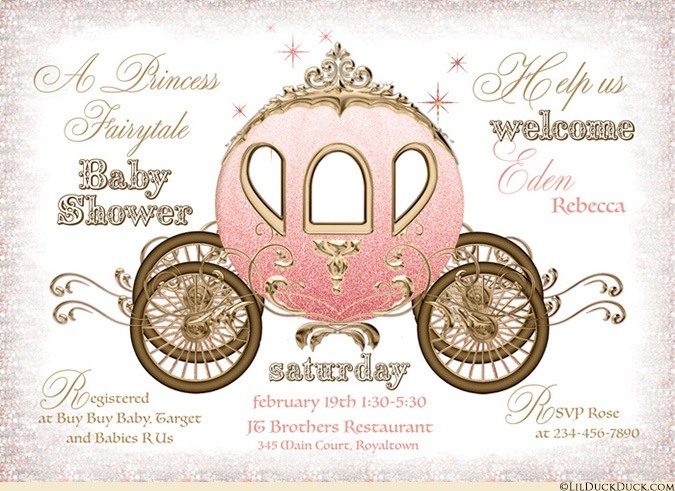 Fairytale coach baby shower. Carriage clipart gold carriage