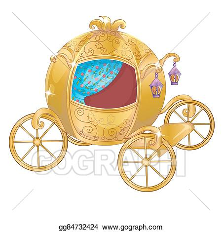 Vector carriage for . Cinderella clipart gold