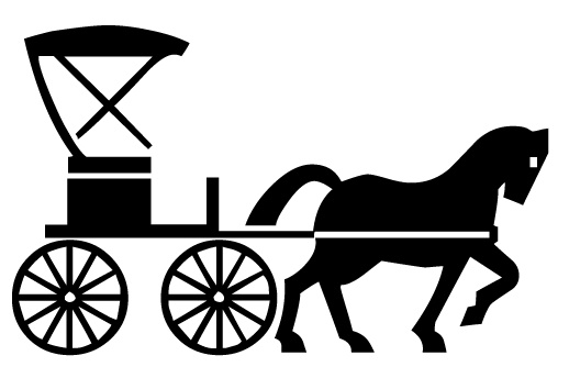 Wagon clipart horsecart. Free horse drawn carriage