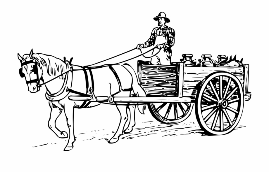 Carriage clipart horse cart. Drawn wagon png clip