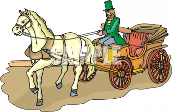 Station. Carriage clipart horse cart