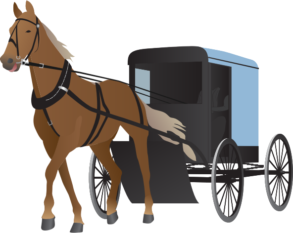 carriage clipart horse cart