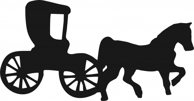 Carriage clipart horse cart. Silhouette at getdrawings com