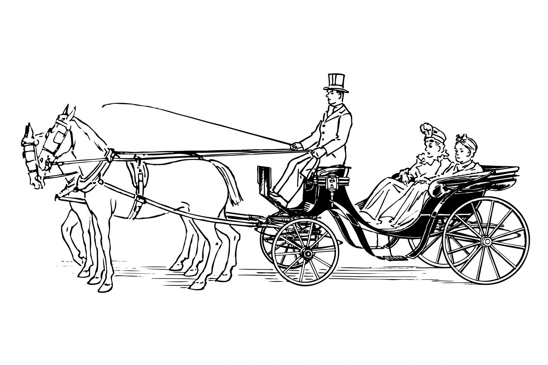 carriage clipart horse drawn