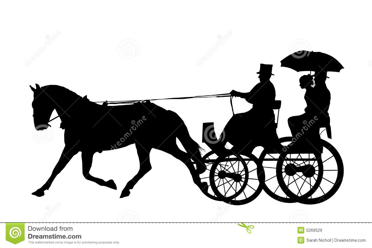 Carriage clipart horse drawn. And silhouette artsy fartsy