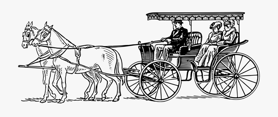 Carriage clipart horse wagon. Surrey drawing and
