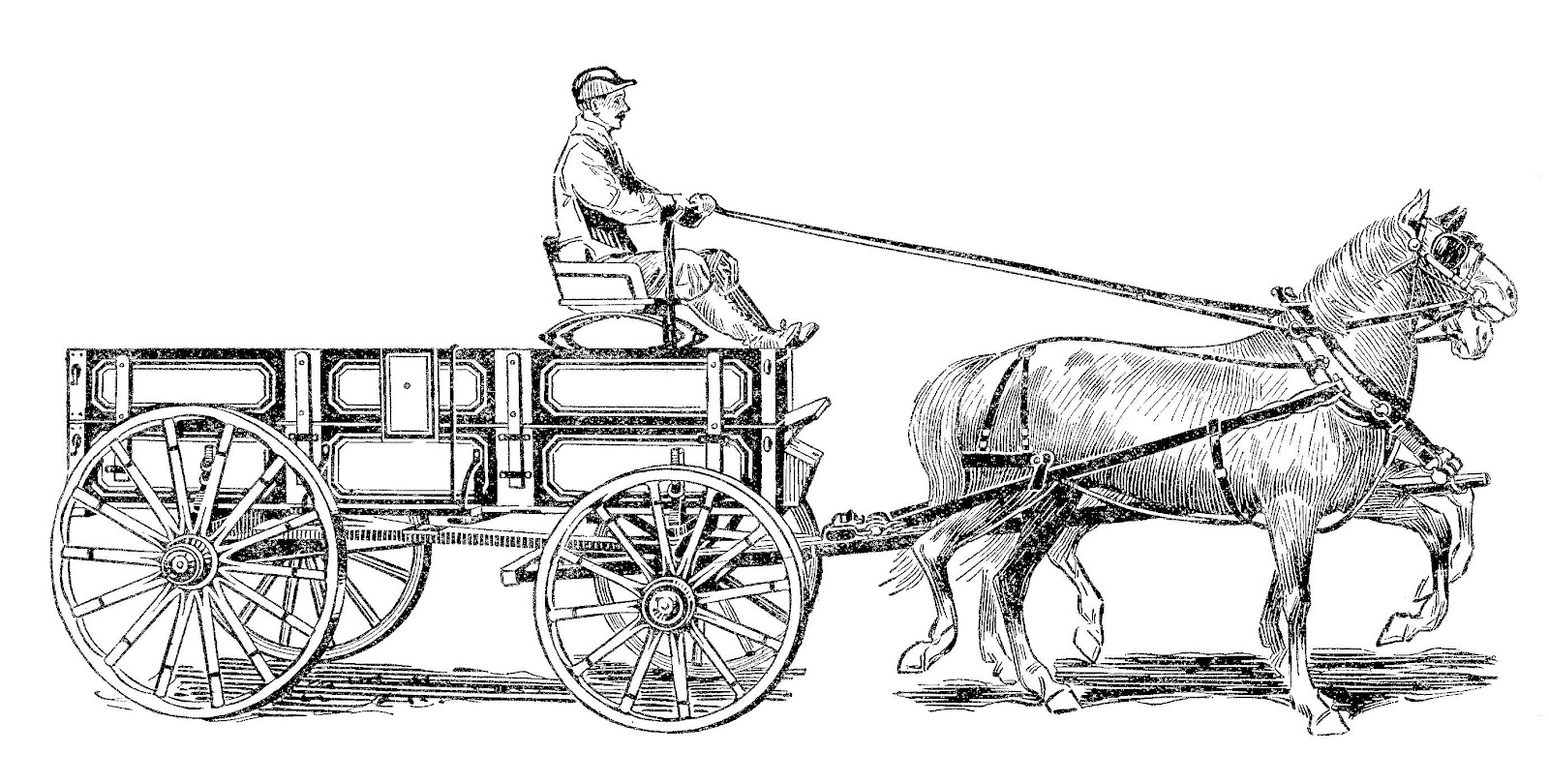 And . Carriage clipart horse wagon