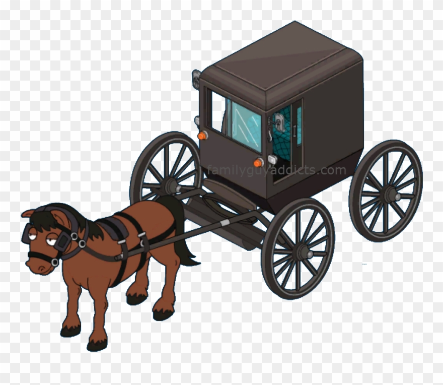 Amish paradise buggy . Carriage clipart horse wagon