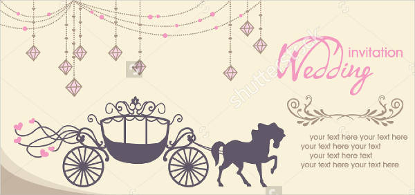 wedding invitations in. Carriage clipart invitation