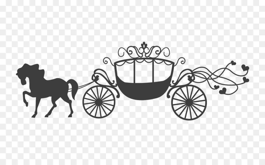 Wedding design png download. Carriage clipart invitation