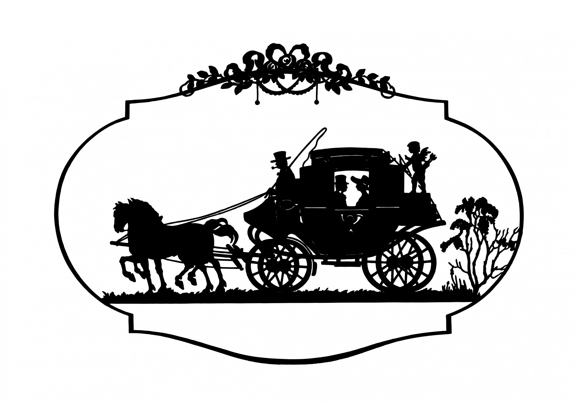 Horse vintage free stock. Carriage clipart logo